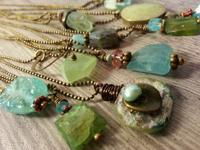 Some are bronze rings with multiple drops--lovely!