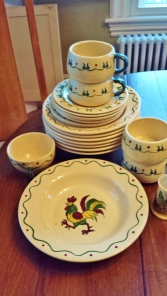"Hugely collectible California Pottery ""Poppy Trails"", with its fabulous rooster motif."