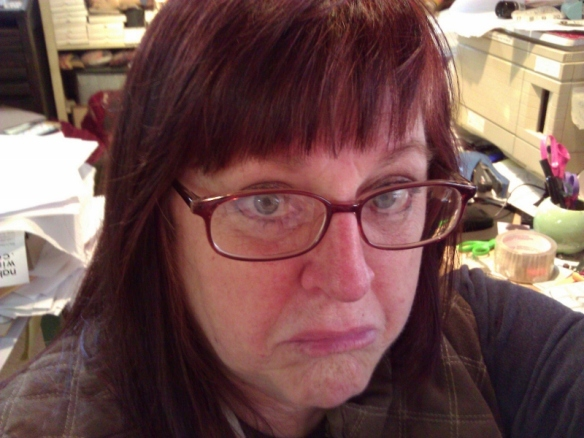 Just so you know I'm not perfect:  I am not proud that I will not admit I really can't cut my own bangs....  And yes, I know that's a double--no wait, a TRIPLE-negative.