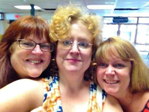 Me, Melinda and Stacey Herlitz, manager of the the Craftwear exhibit at the League of NH Craftsmen's Fair.