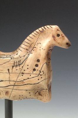 Lascaux Horse Sculpture (detail)