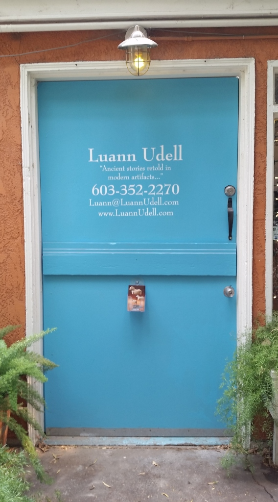 My brand new studio door. The studio is new, the door sign is new, and the door is freshly painted. So...new studio door!