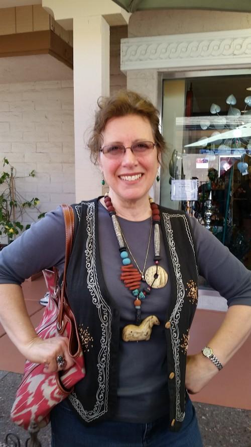 Michele Bottaro, rockin' my Shaman Horse necklace!