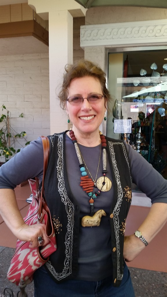 Michele Bottaro, rockin' my Shaman Horse necklace!